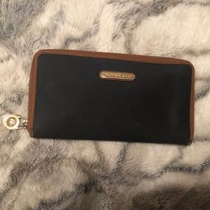 Michael Kors Blue Zip Around Wallet